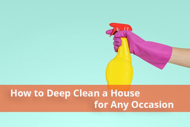 deep clean a house